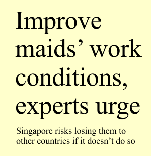 Improve Maids Work Conditions